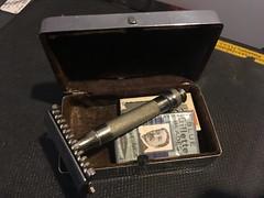 "Late 1930's Gillette ""New"" Razor with case"