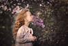 Lilac (olgafler) Tags: lilac girl light beautifull portrait hair breath сирень дыхание reflextion