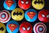 Superhero Cupcakes (Kennet House Cakes) Tags: cupcakes batman superman superhero captainamerica spiderman birthday cake