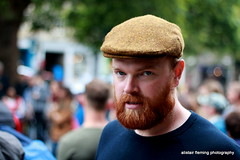 IMG_5583 Grass Market Candid (marinbiker 1961) Tags: male man beard redhair cap dof crowds people outdoors portrait