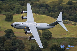 RAF A400M Atlas ZM415 low level at Ambleside