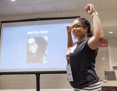 funcrunch-20170810-7236 (funcrunch) Tags: afrocrowd kellyfoster wikiconference wikimedia wikipedia conference montréal québec canada ca