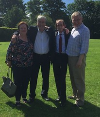 At Prestonpans Gala with Fiona O'Donnell, Willie Innes and Martin Whitfield