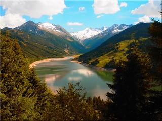 The Durlassboden lake at the Gerlospass