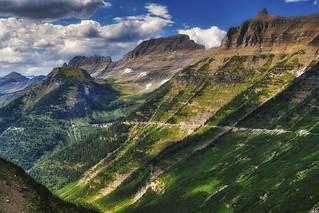 Grand Vista from Turnout just past Logans Pass - Glacier National Park