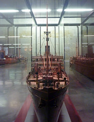Infanta Isabel de Borbon bow 1 (PhillMono) Tags: ship boat vessel maritime nautical model miniature ocean liner barcelona museum spain infanta isabel de borbon bourbon reflection perspective creative imaginative panasonic lumix bow