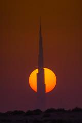 Burj Khalifa (|MBS-..|) Tags: nikon d700 500mm reflexmirror sky burjkhalifa burj khalifa sunset sun sunrise dusk dawn