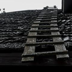 wood (Rambynas) Tags: roof wood ladder steps squareformat