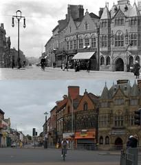Charing Cross, Birkenhead, 1900s and 2017 (Keithjones84) Tags: birkenhead wallasey merseyside wirral thenandnow rephotography newbrighton