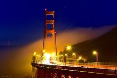 Before Sunrise|Golden Gate, San Francisco (miltonsun) Tags: goldengatebridge sanfrancisco sunrise lowfog foginsf cityscape longexposure bay ngc bayarea wave ocean shore seaside coast california westcoast pacificocean landscape outdoor clouds sky water rocks mountains rollinghills sea cliff nature morning nightphotography nightscene summer