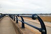 Fences on the sea wall (zawtowers) Tags: southport merseyside north west england cloudy dry sunday 22nd august 2017 day out visit seaside resort destination beach sea pier second longest pleasure grade ii listed victorian opened 1860 fence metal wall dof distance