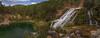Salto de Poveda. Alto Tajo. (Amparo Hervella) Tags: saltodepoveda parquenaturaldelaltotajo españa spain naturaleza roca árbol panorámica color largaexposición d7000 nikon nikond7000 comunidadespañola