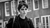 "Street portrait Amsterdam ''Sad eyes"" (Pieter van de Ruit) Tags: girl bw mokumgraaf amsterdam netherlands olympusem1 eyes sad streetphotography streetportrait"