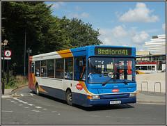Stagecoach 34424, Northampton (Jason 87030) Tags: dart transbus pointer slf bedfordbus bedford bedforshire northants northamptonshire september 2017 stagecoacheast vehicle publictransport sony alpha a6000 ilce nex lens flickr tag wheels