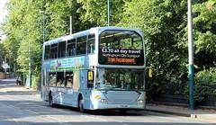 989 on Tram Replacement (timothyr673) Tags: 989 bus omnidekka n230ud scania nottinghamcitytransport nottingham nct