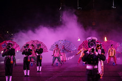 Tattoo 2nd Visit-65 (Philip Gillespie) Tags: 2017 edinburgh international military tattoo splash tartan scotland city castle canon 5dsr crowds people boys girls men women dancing music display pipes bagpipes drums fireworks costumes color colour flags crowd lighting esplanade mass smoke steam ramparts young old cityscape night sky clouds yellow blue oarange purple red green lights guns helicopter band orchestra singers rain umbrella shadows army navy raf airmen sailors soldiers india france australia battle reflections japan fire flames celtic clans