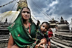 Kathmandu, Nepal (paola ambrosecchia) Tags: portrait woman mother child asia sky clouds nepal kathmandu colors amazing beautiful family street streetphotography city ritratto fujifilm fujifeed