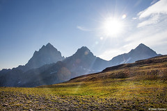 Eclipse Day (isaac.borrego) Tags: uploadedviaflickrqcom mountain peak alpine alaskabasin hurricanepass grandteton nationalpark wyoming canonrebelt4i jacksonhole mountains unitedstates america