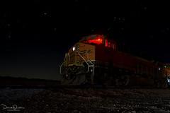 Still of the night (Patrick Dirden) Tags: bnsf8093 es44c4 gevo ge generalelectric diesel locomotive engine rail railroad train bnsf bnsfrailroad bnsfrailway burlingtonnorthernsantaferailroad burlingtonnorthernsantafe bnsfneedlessubdivision daggett daggettca sanbernardinocounty mojavedesert mojave desert coolwater night nightphotography stars southerncalifornia california