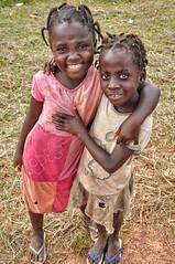 Liberian girls on roadside