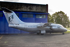 Bernie's Bus (Al Henderson) Tags: bae 146 gofoa formula one cranfield egtc avalonaerospace stored aviation airliner bedfordshire