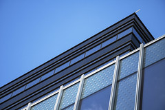 Fasten your seatbelts, please! (Djaron van Beek) Tags: abstract angle partofbuilding blue bluesky graphic reflectionofsky windows diagonal oblique notthatmuchprocessed geometry architecture newbuildingofuniversityofamsterdam uva architecturalfirmahmminlondon architecturalfirmallfordhallmonaghanmorris lines parallel rectangles thickblacklines photographedwhileunderconstruction upperroomsstillempty nocurtainsorsunscreensyet almostaflatimage almosta2ddrawing themindtricksme thewhiteverticalpolesaretheonly3delements suggestionofspeed rollercoaster softfocus composition monochrome urban varioustonesofblue aesthetic frogview repetition patterns amsterdam sky onlyahintofclouds minimal brightcolours dynamic cleancut djaron djaronvanbeek