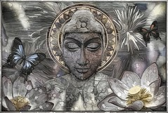The Buddha And The Butterflies (Daniel Arrhakis) Tags: thebuddhasofayahrtyan buddha buddhism mysticsurrealism artdigital creativephotography