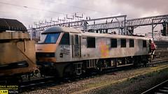 90137 (dave hudspeth photography) Tags: railway train nostalga diesel track transport britishrail iconic davehudspethgrey red blue gner crewe york newcastle