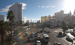 southern strip in the sun (n.a.) Tags: las vegas nevada nv usa excalibur luxor hotel casino resort sun road strip mgm new york tropicana