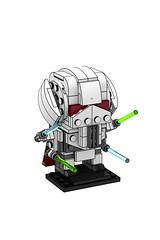 Starwars General Grievous BrickHeadz (minimal_brick) Tags: minimalbrick lego creative competition by gravi general grievous starwars brickheadz