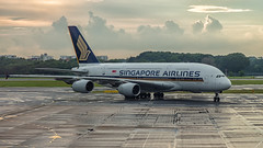 Singapore Airlines A380 9V-SKI (Anthony Kernich Photo) Tags: singaporeairlines singapore sq changi singaporechangi airport terminal gate taxi taxiway airplane aircraft airplanepicture airplanephotograph airplanephoto plane aviation jet olympusem10 olympus olympusomd commercialaviation planespotting planespot aeroplane flight flying airline airliner widebody jumbo jumbojet superjumbo airbus airbusa380 a380 a380800 9vski wsss unlimited unlimitedphotos
