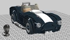 Two LEGO Cobras (bricknerd) Tags: lego speedchampions shelby cobra