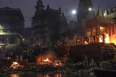Manikarnika Ghat II (Michael Olea) Tags: 2015 travel asia india varanasi manikarnikaghat ghat