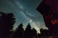 When the Lights Come Out in the Country (matthewkaz) Tags: milkyway stars sky night astrophotography astronomy barn redbarn ogemawcounty home westbranch trees silhouette michigan 2017
