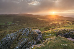 Guilded Stratus (http://www.richardfoxphotography.com) Tags: haytor saddletor dartmoor sunrise mist cloud hillfog granite tor outdoors