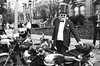 Distinguished Gentleman's Ride in Black and White (Georgie_grrl) Tags: distinguishedgentlemansride2017 charityride motorcycles blackandwhite monochrome pentaxk1000 rikenon12828mm toronto ontario triumph suit tie tophat verydistinguished schnazzy spiffy pippipandallthatrot