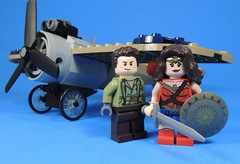 Diana and Steve (MrKjito) Tags: lego minifig super hero comics comic wonder woman dc cinematic universe steve trevor diana prince plane wwi