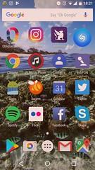 Nexus 5ホーム画面。2017-08-02時点