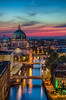 Berliner Dom im Abendlicht (Almira Kljuco Photography) Tags: berlin city spree berlinerdom nikolaiviertel abend evening water river bluhour blauestunde colour sky sunset night nikon berlincathedral cathedral longexposure buildings bridges skyline architecture