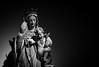 Chapelle de l'le St-Cado (56) (CREE PING) Tags: chapelle stcado ile statue vierge viergemarie noir noiretblanc bretagne breizh bzh blanc canon canon7d creeping couleurs 1740mml vie vue religion sombre france french morbihan 56