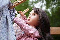 DSC03506 (Lindy Dolldreams) Tags: agirlforalltime nisha clothesline laundry dresses girl