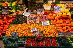 Pike Place Market in Seattle..... (wdavidbarr) Tags: alaskabest201617 pikeplacemarket pikeplacepublicmarket publicmarket freshfruit fruit market seattle seattlewaterfront