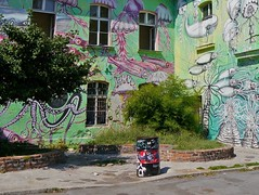 (perpetually dishevelled) Tags: ljubljana slovenia metelkova artist graffiti commune trashcan spraypaint art city urban space mural globina tinad whale jellyfish seaanemone squid creatures painted tentacles squat octopus