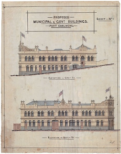 Port Chalmers Proposed Municipal and Government Building Sheet 1