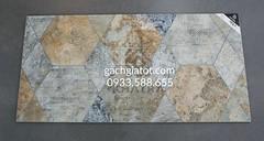 Gạch ốp tường lục giác old cement (30x60)