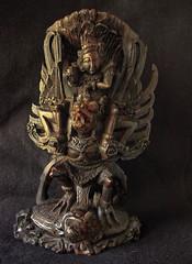 VISHNU RIDING GARUDA (sadler0) Tags: hindu vishnu garuda bali idol icon statue woodstatue antique teak woodcarving god eagle roger sadler rogersadler ©