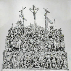 The Crucifixion (Steve Taylor (Photography)) Tags: carved altarpiece crucifixion christ crowd virginmary romansoldiers scene cross pearwood art sculpture carving monochrome blackandwhite monotone wood wooden people uk gb england greatbritain unitedkingdom london shadow va victoriaandalbert