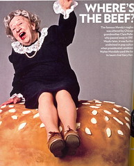 "Clara Peller - Wendy's Restaurant ""Where's the Beef!!"" (Brett Streutker) Tags: restaurant cafe diner eatery food hamburger cheeseburger eat fast macdonalds burger vintage colonel sanders kentucky fried chicken big mac boy french fries pizza ice cream server tip money cash out dining cafeteria court table coffee tea serving steak shake malt pork fresh served desert pie cake spoon fork plate cup drive through car stand hot dog mustard ketchup mayo bun bread counter soda jerk owner dine carry deliver clara peller wendys wheresthebeef"