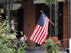 Lambertville, NJ (thomasgorman1) Tags: flag flowers restaurant usa new jersey plants building town candid people street streetphotos public canon lambertville