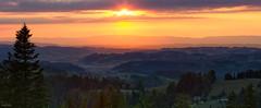 Swiss Midlands (fotoRschaffer) Tags: switzerland emmental europe landscapephotography outlook panoramicview panorama summer sunset forest meadows clouds hills farms villages beautifullight swiss fotorschaffer alainschaffer schweiz suisse svizzera svizra mittelland chasseral mountainrange bergkette jura landschaft täler valleys lovely eveningmood abendstimmung aussicht view aussichtspunkt lüderenalp sommer sonnenuntergang sky himmel wolken wälder wiesen hügel bauernhöfe dörfer weitsicht